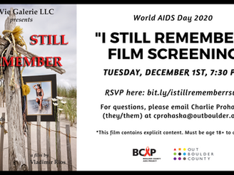 "BCAP and Out Boulder County Co-Host Film Screening: ""I Still Remember"""