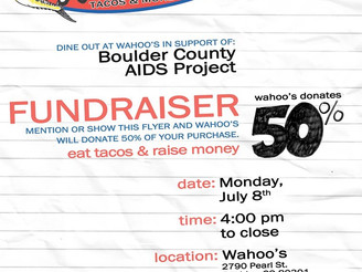Join us tonight at Wahoo's Fish Tacos in Boulder to Benefit BCAP!