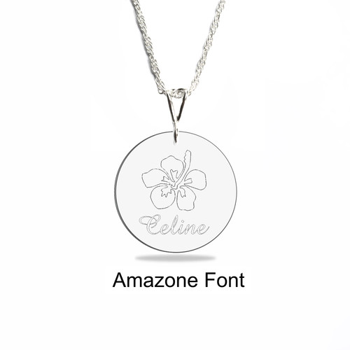 Heiclaire engraved pendants engraved disk necklace curved pendant 3400 aloadofball Image collections