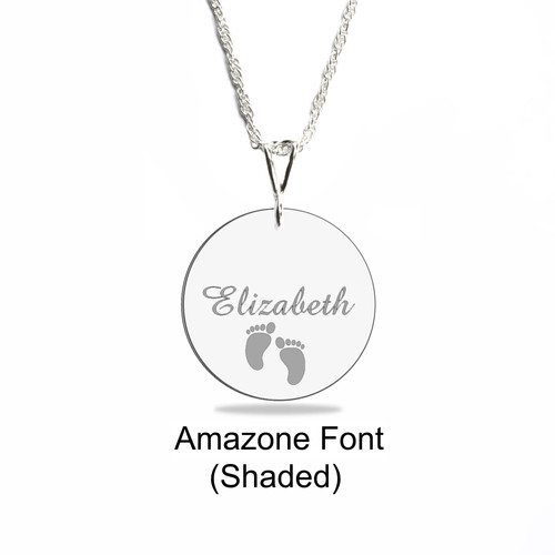 Heiclaire engraved pendants engraved disk necklace curved pendant aloadofball Image collections