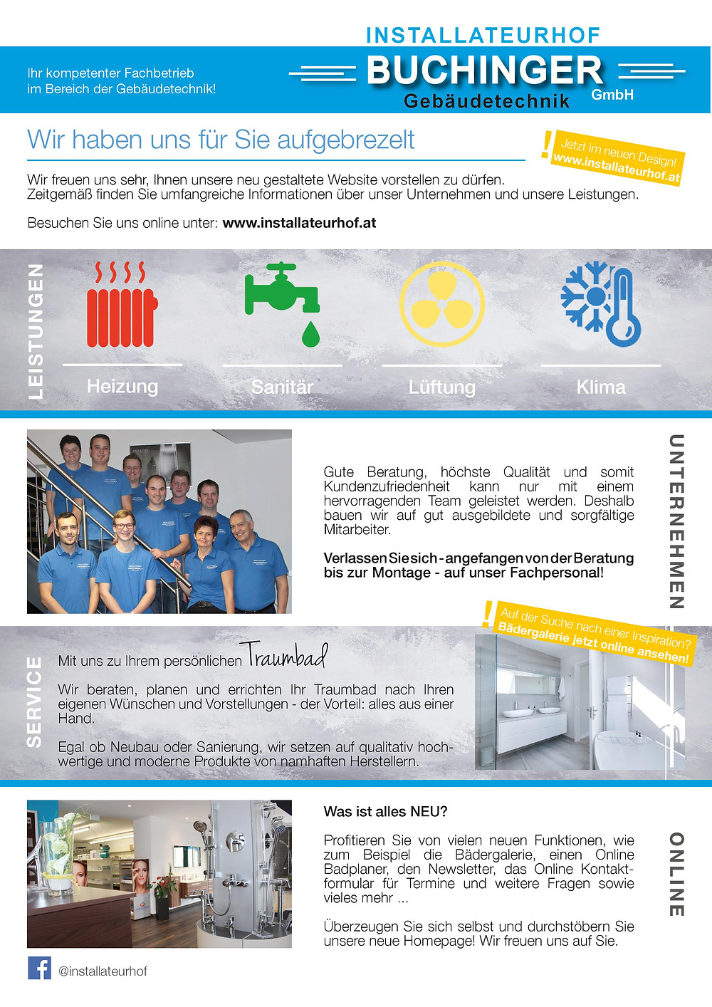 Marktplatzl Ausgabe April 2019 Installateurhof Buchinger Gebäudetechnik