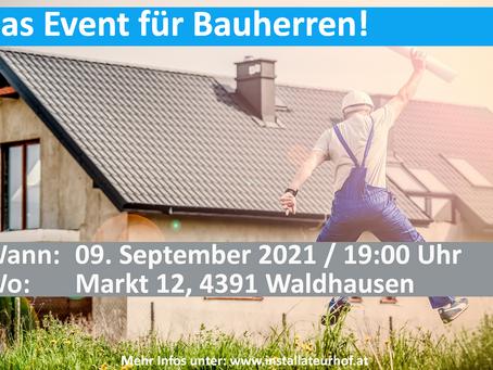 Bauherrenabend - Das Event für Bauherren beim Installateurhof Buchinger