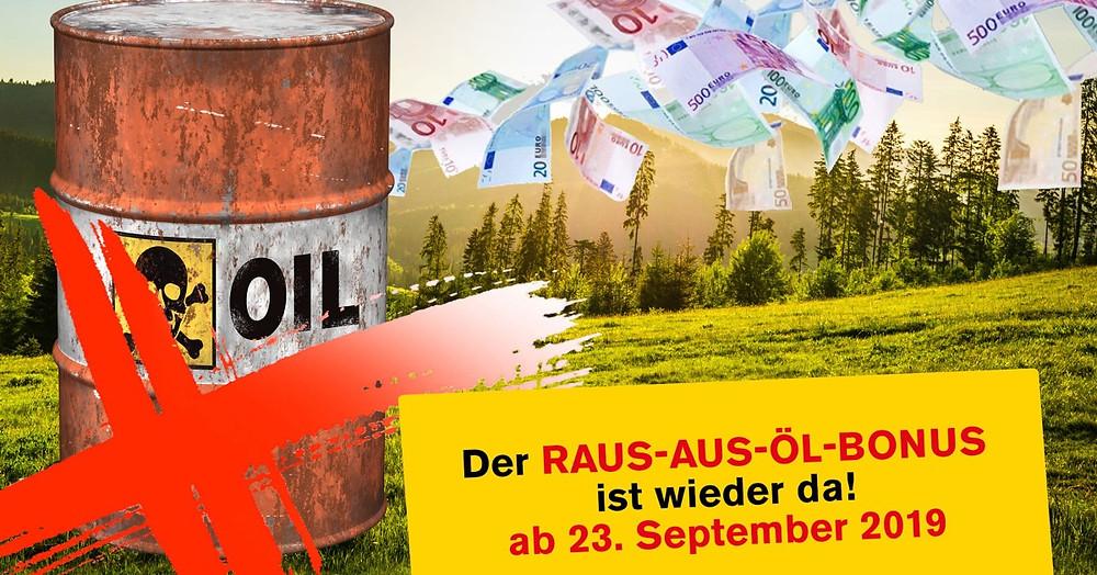 Raus aus dem Öl Förderung