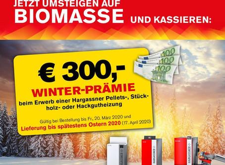 Winter-Prämie | Auf Biomasse umsteigen und kassieren!