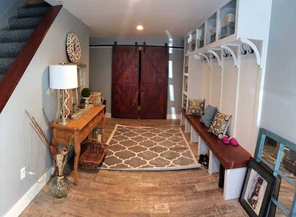 Garage to Mudroom Conversion