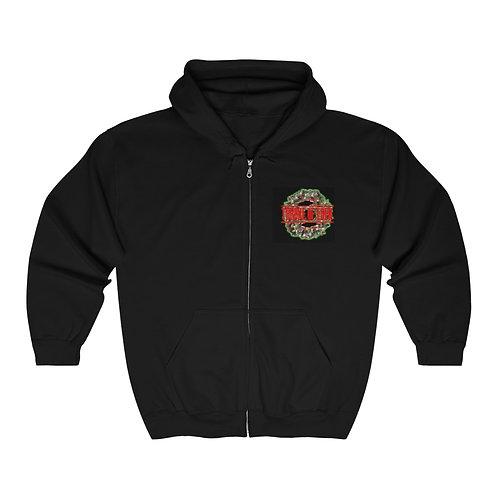 Throne Of Eden Unisex Full Zip Hooded Sweatshirt Christmas Edition