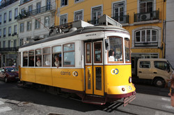 Old style Lisbon tram