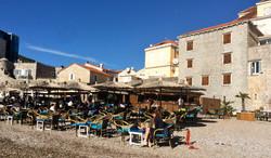 Beach bar at Stari Grad, Budva