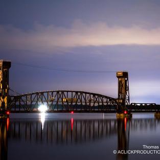 Decatur Railraod Bridge Night