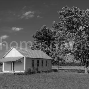 Amish Schoolhouse B&W
