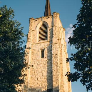St. Johns Episcopal Church Tall Steeple