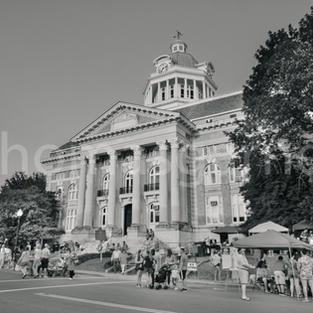 Giles County Courthouse Side ViewB&W