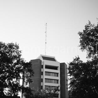 Decatur City Hall Tall B&W