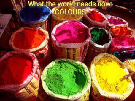 Bring Farbe in dein da Sein