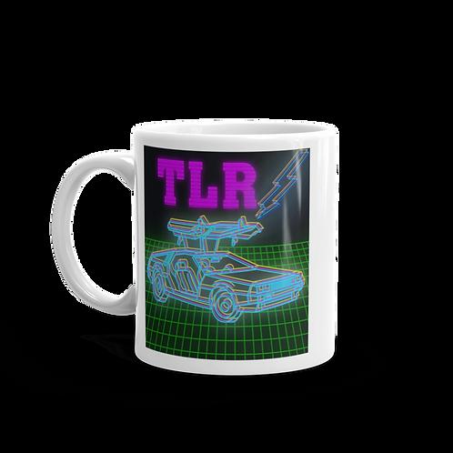Back to the Gains TLR Blue DeLorean Coffee Mug
