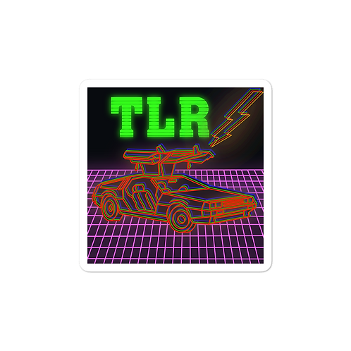 Back to the Gains TLR Red DeLorean Sticker