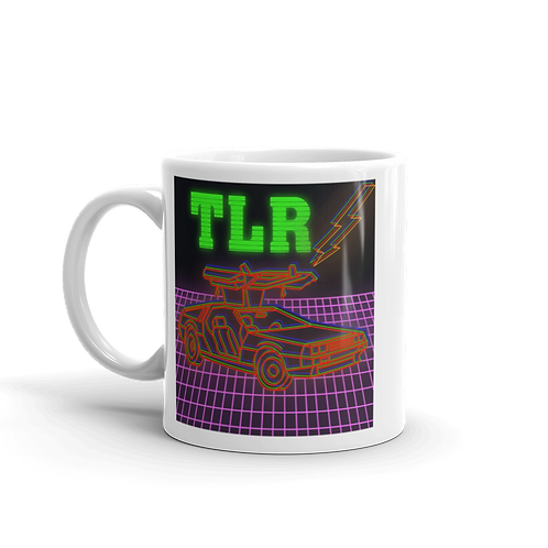 Back to the Gains TLR Red DeLorean Coffee Mug