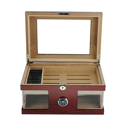 Cedar matt brown cigar humidor - SH-1366