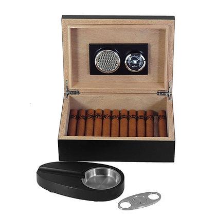 Wooden Cigar Humidor Set -  SH-1443 BL