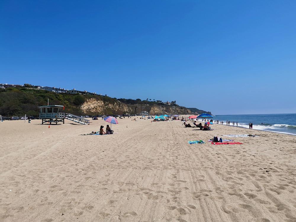 La plage de Zuma Beach à Malibu
