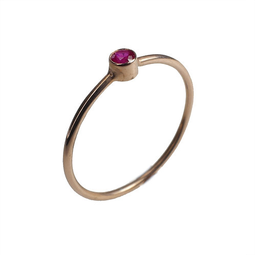 Ruby Rose Gold 14K Ring