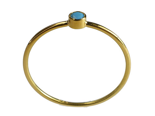 Turquoise Yellow Gold 14K Ring