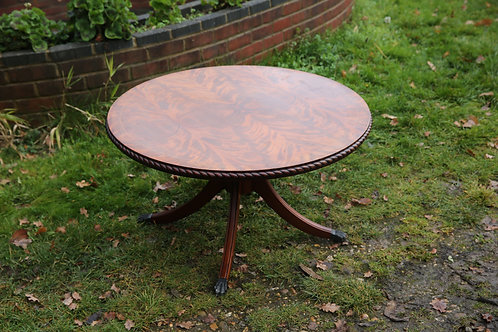 Reproduction mahogany round coffee table