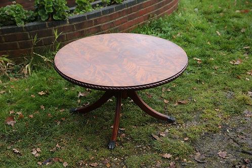 Reproduction mahogany round coffee table