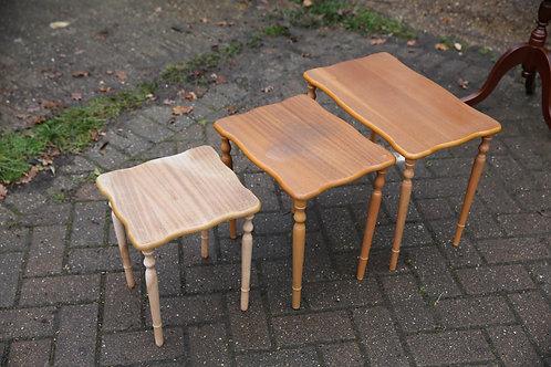Nest of teak tables