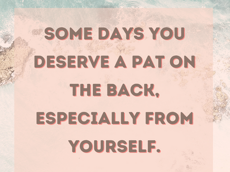 Time for a little pat on the back?