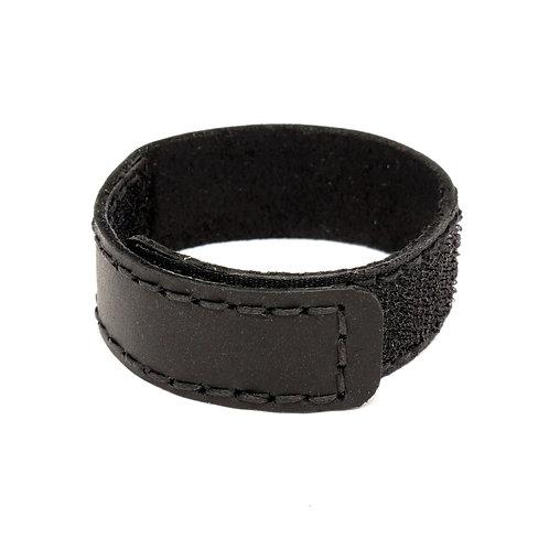 Кольцо кожаное эрекционное BDSM на липучке 2,0 х 21,0 см