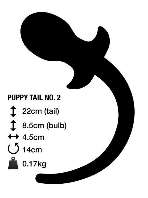 Анальная пробка с хвостом PUPPY TAIL №2 Великобритания