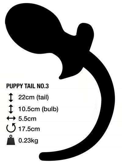 Анальная пробка с хвостом PUPPY TAIL №3 Великобритания