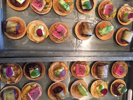 Start your in-home dinner with canapes
