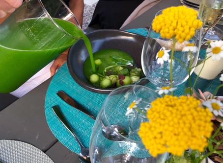 Green gazpacho by San Diego Personal Chef Yoann