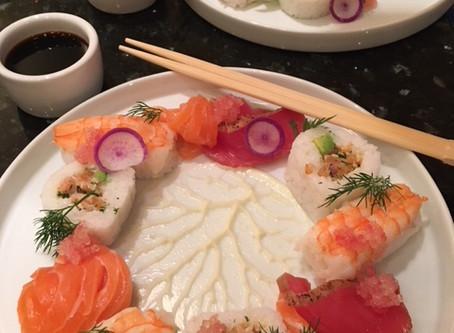 Sushi roll and sashimi by San Diego Personal Chef Yoann