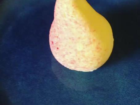 PEAR ENTREMET saffron sorbet
