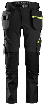 6940 FlexiWork, Softshell Stretch Trousers+ Holster Pockets