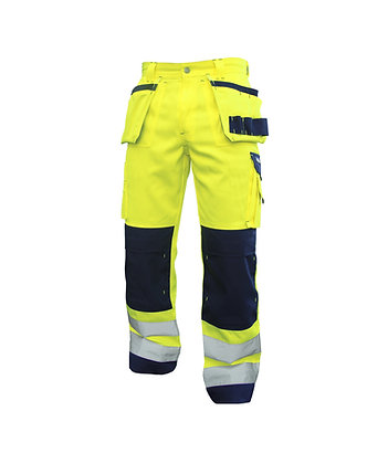 DASSY® GLASGOW High visibility work trousers with multi-pockets and knee pockets