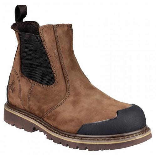 FS225 Nubuck Welted Dealer Boot, Bump Cap Toe
