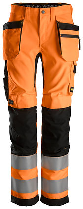 6730 AllroundWork, Women's High-Vis Trousers+ Holster Pockets CL2