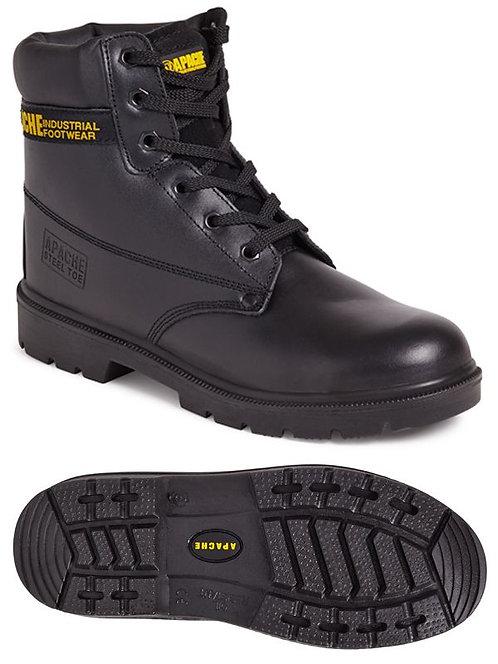 AP300 Black 6 Eye Safety Boot