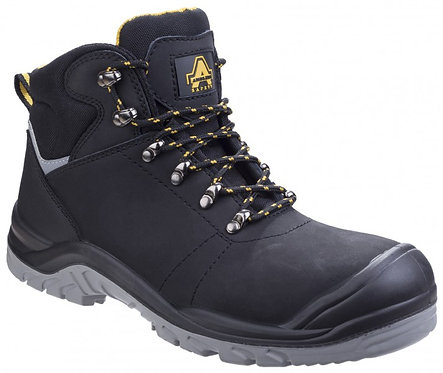 AS252 DELAMERE Black Lace up Boot with Scuff Cap