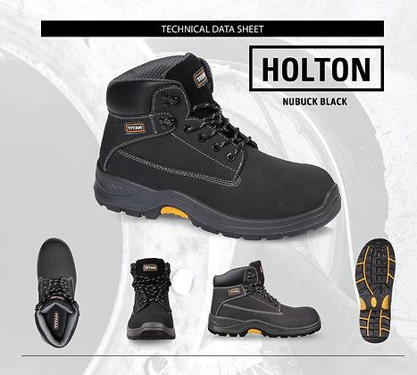Holton Black Nubuck