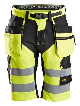 6933 FlexiWork, High-Vis Shorts+ Holster Pockets CL