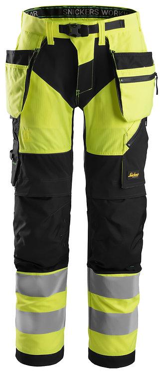 6932 FlexiWork, High-Vis Work Trousers Holster Pockets+ CL2