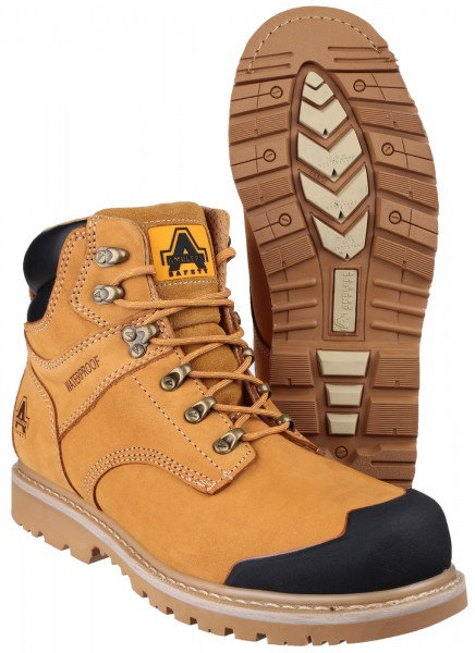 FS226 Nubuck Welted Boot with Padded Top and Bumb Cap