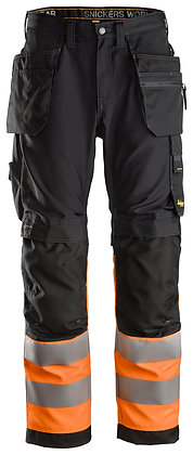 6233 AllroundWork, High-Vis Work Trousers+ Holster Pockets CL1