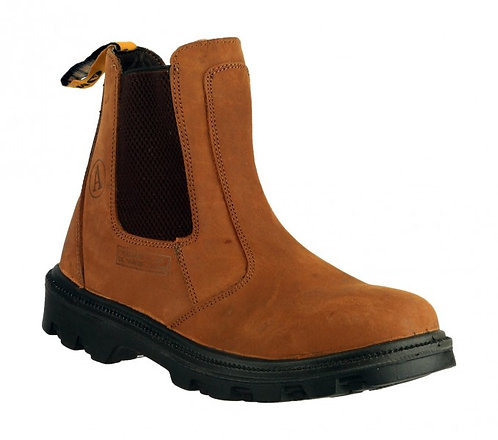 FS131 Brown Greasy Dealer Boot, Roomy Toe Box, Steel Midsole