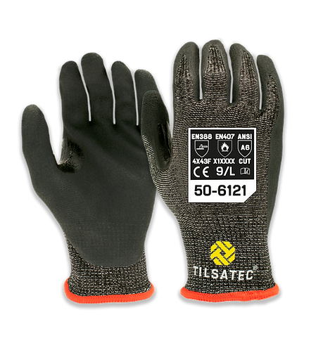 50-6121 Cut level F Nitrile palm Glove with thumb reinforcement (Pack of 12)